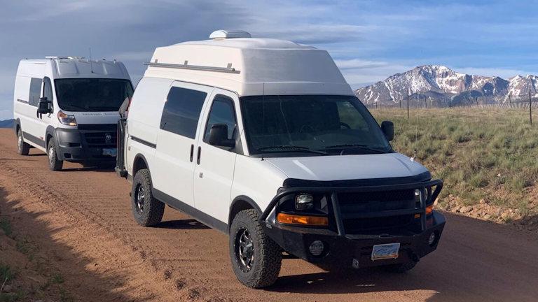 Two Van Caravan at pikes peak